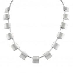 Halsband borstat stål star of sweden smycken trend design