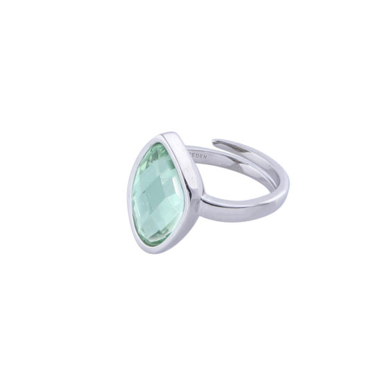 Ring-silver-green
