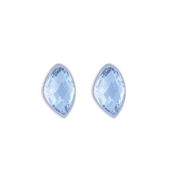 Stud-silver-blue