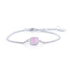 pink armband one piece silver